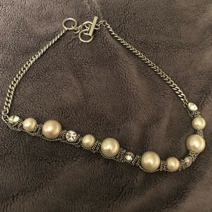 Givenchy faux pearl crystal necklace